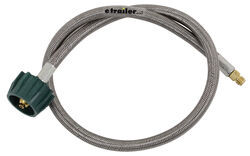 "MB Sturgis Propane Pigtail - Stainless Overbraid - Type 1 x 1/4"" Male Inverted Flare - 3'"