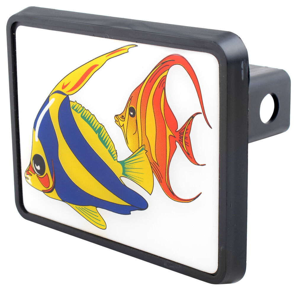 Tropical fish trailer hitch receiver cover for 1 1 4 for Fish hitch cover