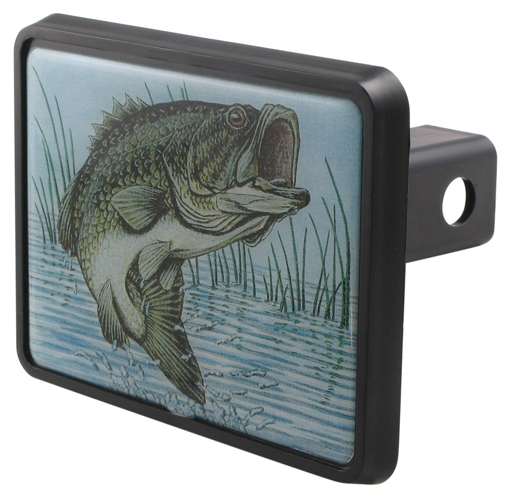 Bass trailer hitch receiver cover for 1 1 4 trailer for Fish hitch cover
