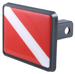 "Diver's Flag Trailer Hitch Receiver Cover for 1-1/4"" Trailer Hitches"