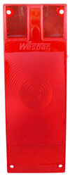 "Replacement Red Lens for Wesbar Submersible Trailer Tail Lights for Trailers Over 80"" Wide"