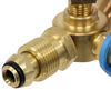 mb sturgis propane adapter fittings 1/4 inch - male sturgi-stay t-fitting w/ hose for pol valve 2 model 250 quick disconnect ports