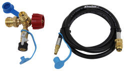 MB Sturgis Sturgi-Stay T-Fitting w Hose - Type 1 Valve - Quick Disconnect, Disposable Cylinder Ports