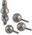 convert-a-ball hitch ball 1-7/8 inch diameter 2 2-5/16 1 shank interchangeable set - 3 balls xl nickel