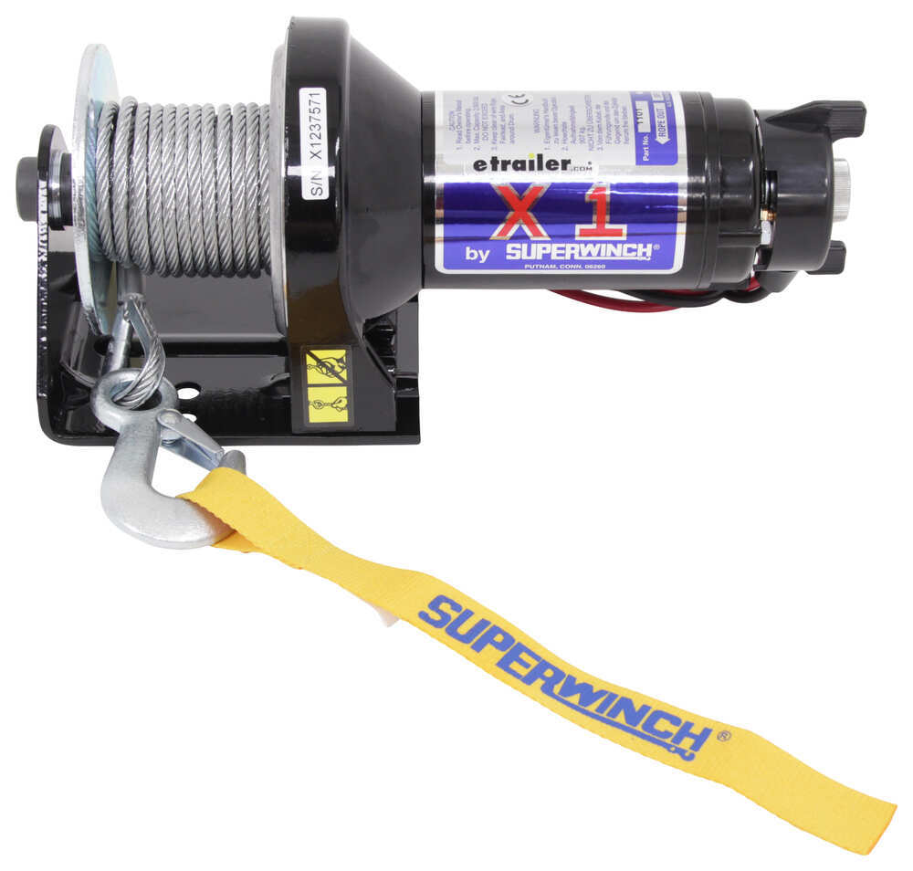 Superwinch X1 Trailer Winch - Wire Rope