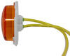 optronics trailer lights clearance rear glolight m3 led or side marker light - submersible 5 diodes amber lens