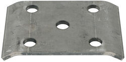 "U-Bolt Plate for 2-1/2"" Diameter, Round Trailer Axles with 2"" Wide Springs"