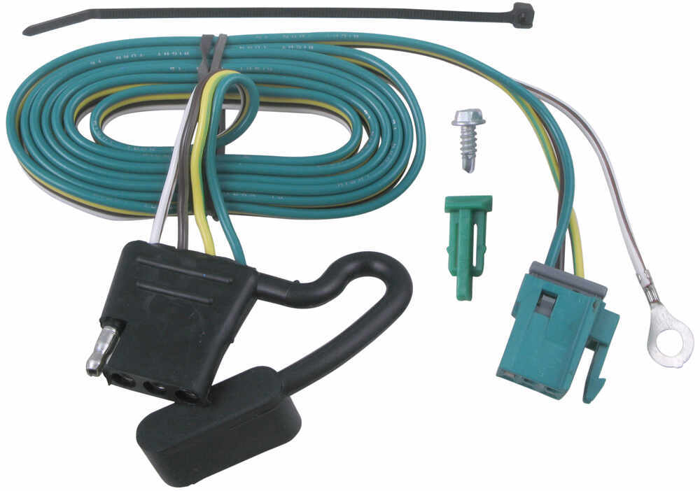 Replacement Oem Tow Package Wiring Harness With 4-pole Flat Trailer Connector  Gmc Vans