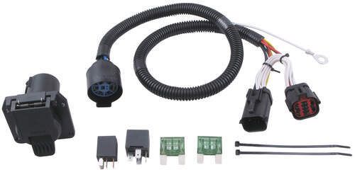 Pare 7way Prewired Vs Ford Replacement Etrailerrhetrailer: Oem Tow Package Wiring Harness 7 Way Ready At Elf-jo.com
