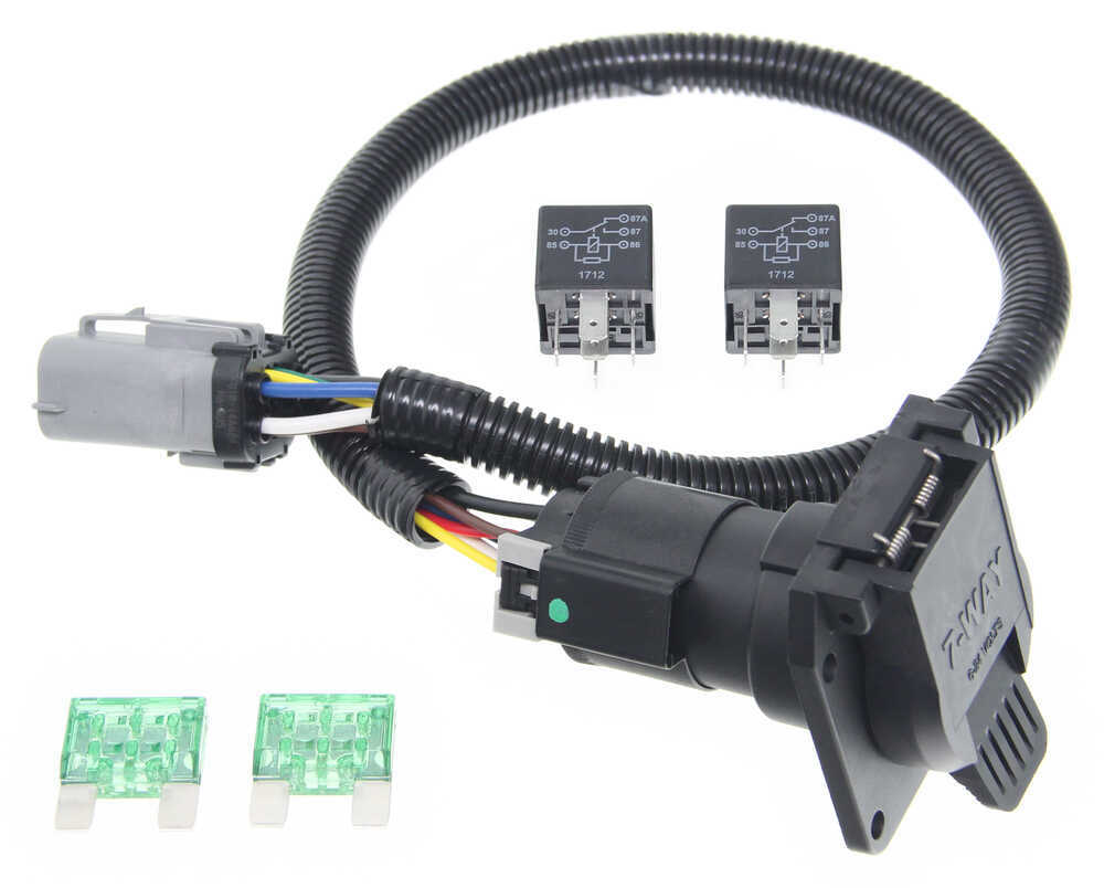 Ford Replacement Oem Tow Package Wiring Harness 7 Way Super Duty Stop Lights 4 Wire Ready Custom Fit Vehicle 118243