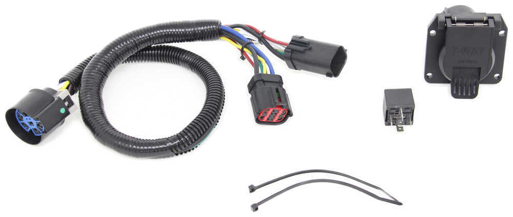 tow package vehicle wiring harness with 7 way trailer