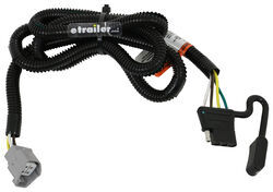 T-One Vehicle Wiring Harness for Factory Tow Package - 4-Pole Flat on trailer plugs, trailer brakes, trailer generator, trailer mounting brackets, trailer hitch harness, trailer fuses,