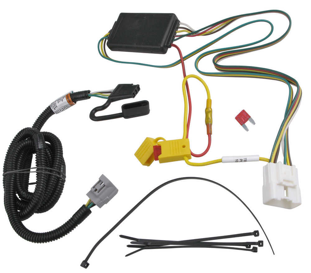 T One Vehicle Wiring Harness With 4 Pole Flat Trailer Connector Lexus Hitch Tekonsha Custom Fit 118255