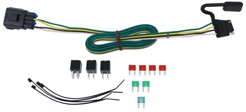 118270_9_500 t one vehicle wiring harness for factory tow package 4 pole flat Nissan Armada Trailer Wiring Harness at readyjetset.co