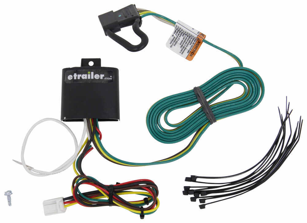 T-One Vehicle Wiring Harness for Factory Tow Package - 4-Pole Flat Trailer Connector Powered Converter 118278
