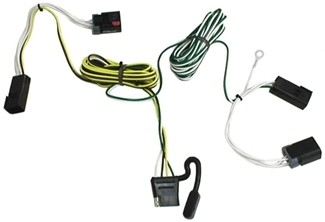 118300_500 t one vehicle wiring harness with 4 pole flat trailer connector Chrysler Town Country Aftermarket Accessories at panicattacktreatment.co