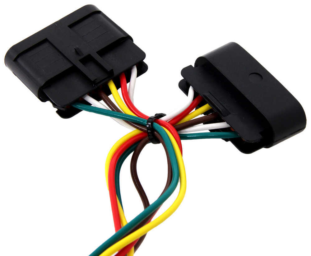 T one vehicle wiring harness with 4 pole flat trailer connector custom fit vehicle wiring tekonsha 118301 118301 118301 118301 118301 118301 118301