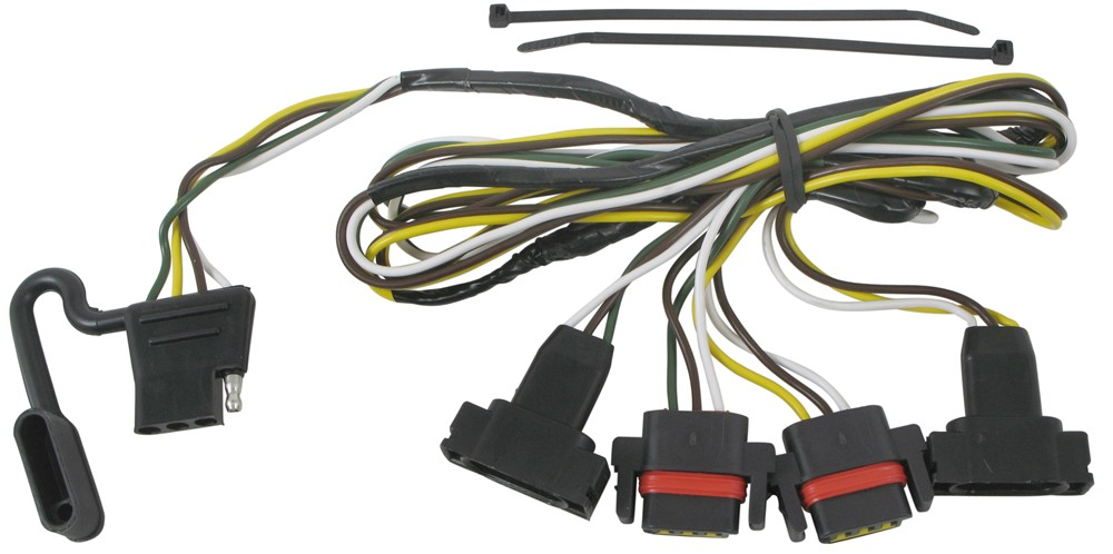 T-One Vehicle Wiring Harness with 4-Pole Flat Trailer Connector on kenworth trailer wiring, ram truck trailer wiring, nissan trailer wiring, volkswagen trailer wiring, range rover trailer wiring, dodge trailer wiring, gmc truck trailer wiring,