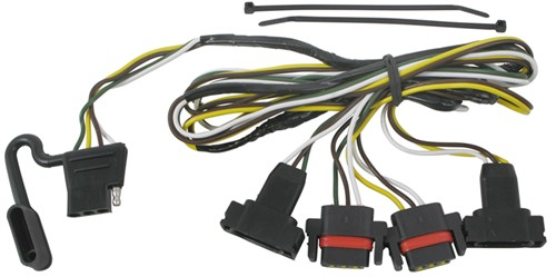 118323_500 t one vehicle wiring harness with 4 pole flat trailer connector trailer wiring harness for 2006 dodge dakota at bakdesigns.co