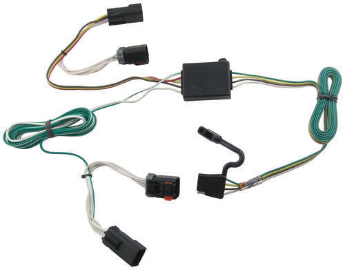 118334_500 t one vehicle wiring harness with 4 pole flat trailer connector  at n-0.co