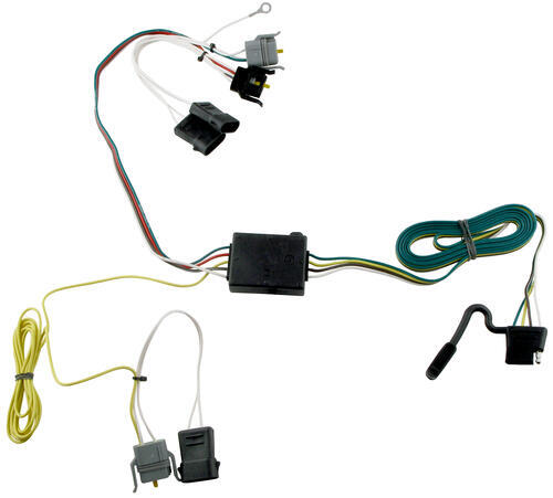 118343_500 t one vehicle wiring harness with 4 pole flat trailer connector Trailer Light Wiring Kits at panicattacktreatment.co