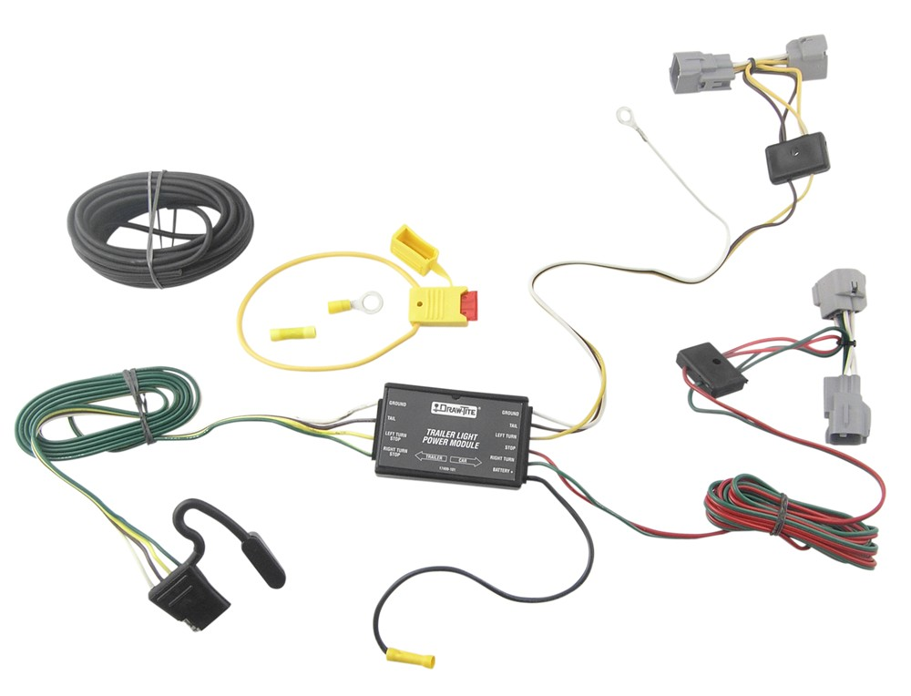 wiring tow a car t-one vehicle wiring harness with 4-pole flat trailer ...