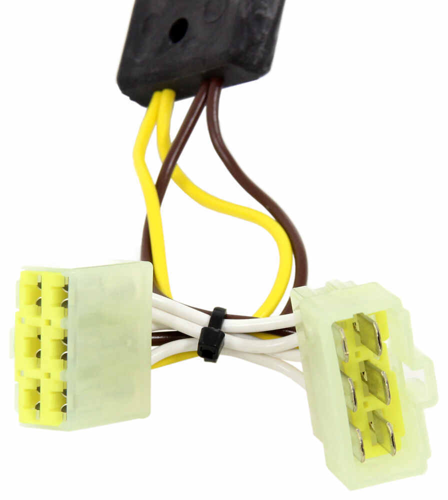 T One Vehicle Wiring Harness With 4 Pole Flat Trailer Connector A Utility Four Way Plug Moreover Tekonsha Custom Fit 118379