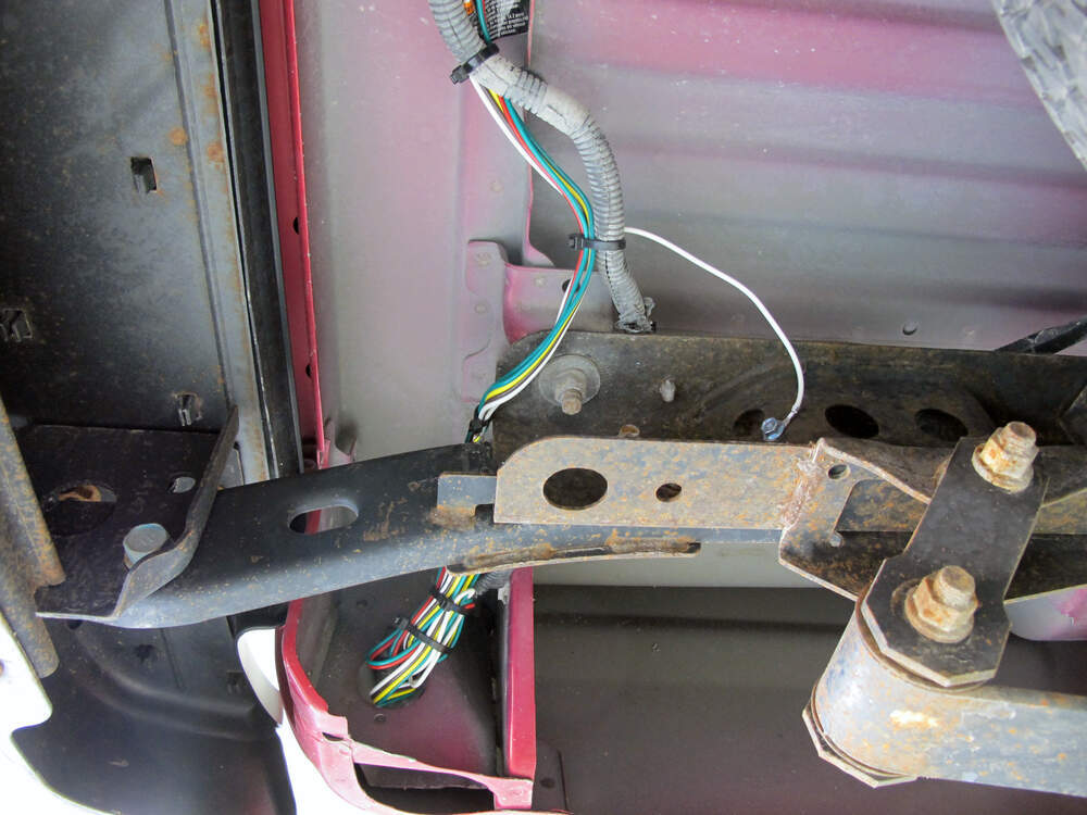 Install Trailer Wiring Harness Toyota Tacoma : T one vehicle wiring harness with pole flat trailer