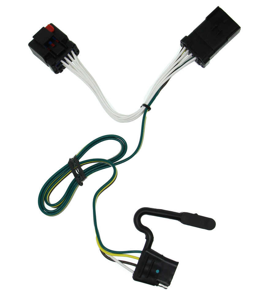 T One Vehicle Wiring Harness With 4 Pole Flat Trailer Connector Chrysler Strap Clips Tekonsha Custom Fit 118381