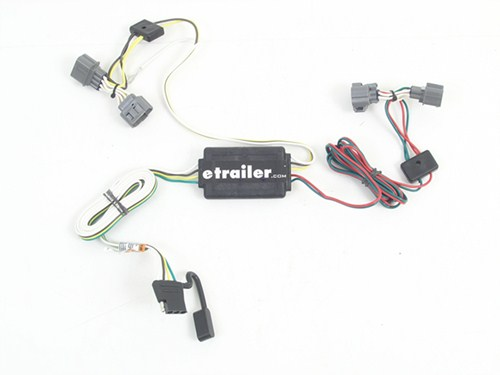 118400_500 t one vehicle wiring harness with 4 pole flat trailer connector 2007 honda ridgeline trailer wiring harness at bayanpartner.co