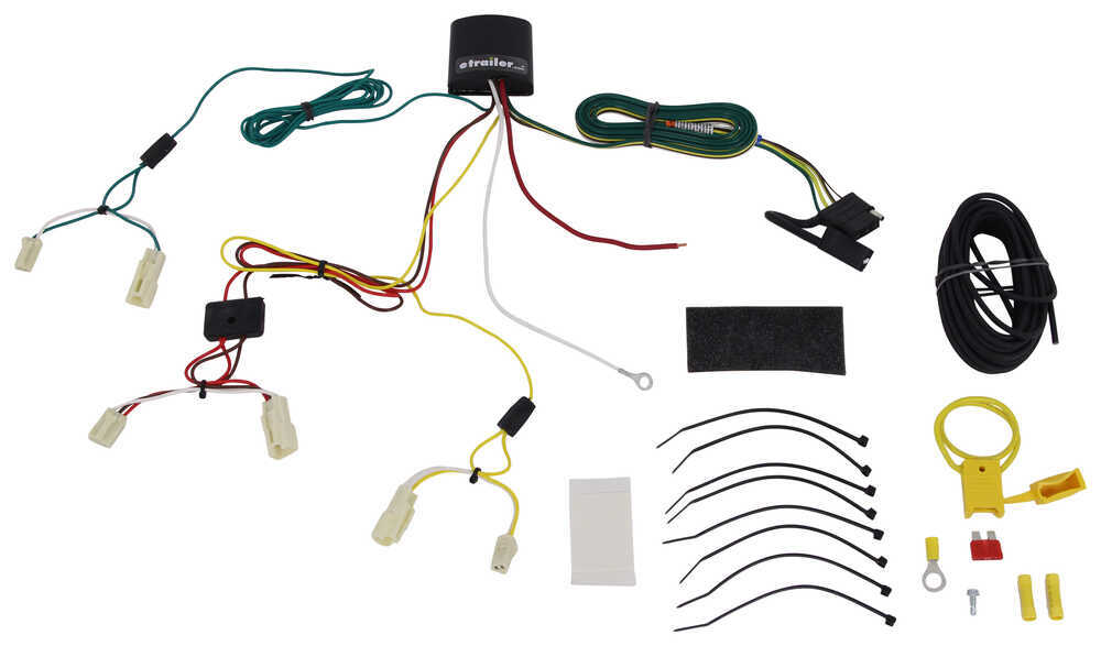 T-One Vehicle Wiring Harness with 4-Pole Flat Trailer Connector 4 Flat 118405