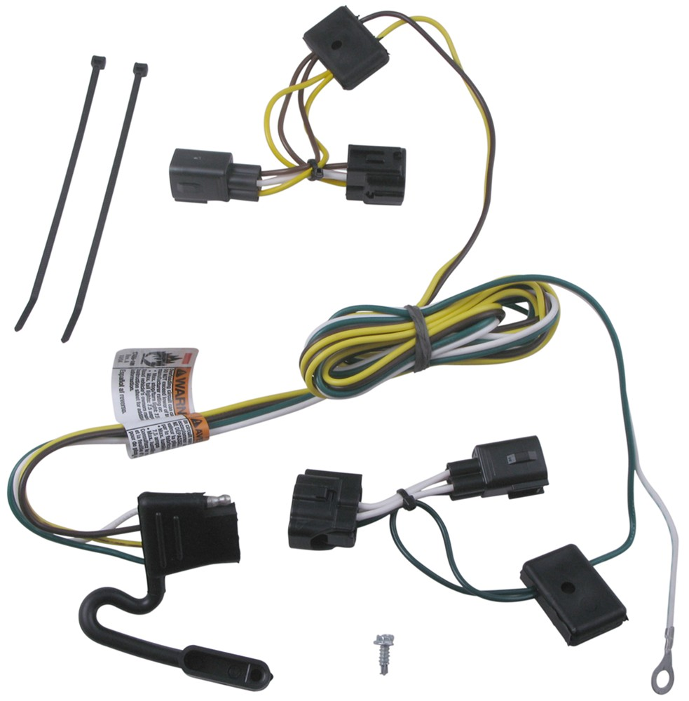 T-One Vehicle Wiring Harness with 4-Pole Flat Trailer Connector 4 Flat 118409