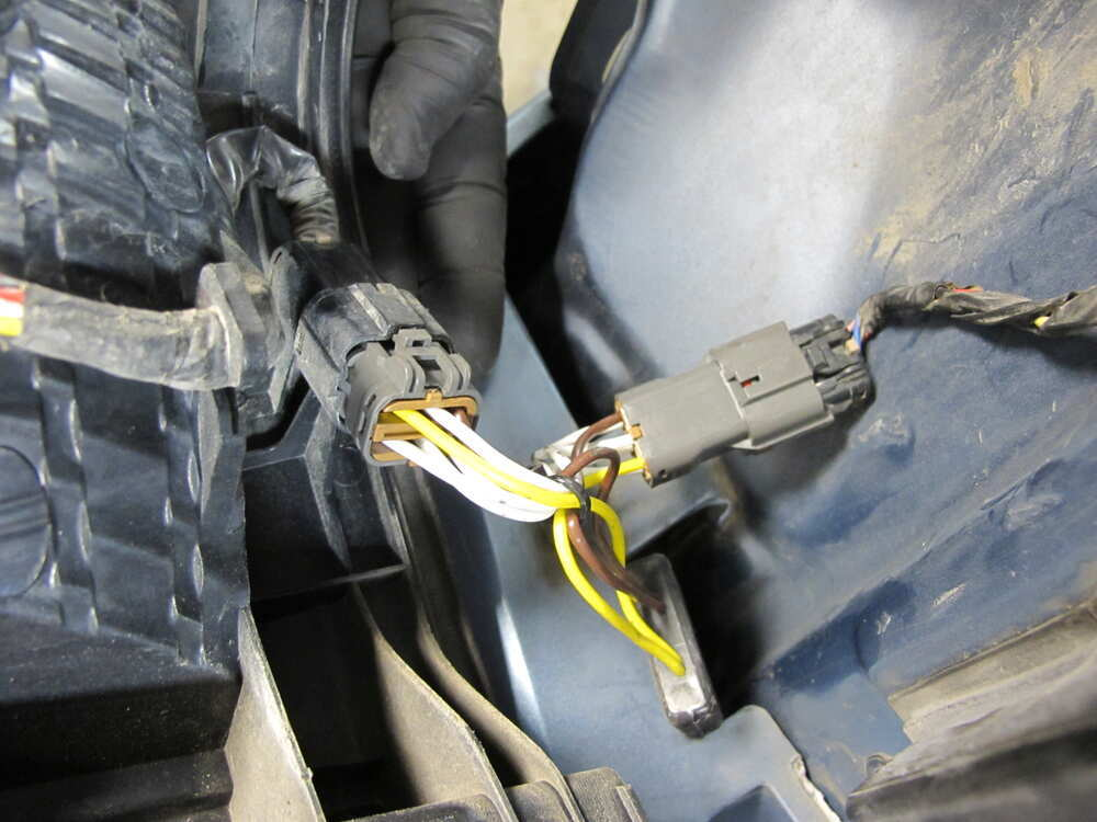 t one vehicle wiring harness with 4 pole flat trailer Trailer Hitch Wiring Harness Diagram GM Trailer Plug Wiring Diagram
