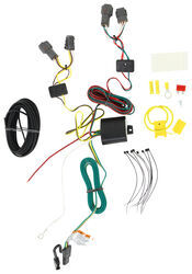 t one vehicle wiring harness with 4 pole flat trailer connector  2012 kia sedona trailer tow wiring harness #10