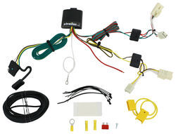 trailer wiring harness installation 2009 toyota rav4 videot one vehicle wiring harness with 4 pole flat trailer connector