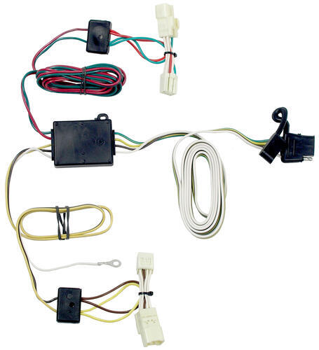 118413_500 t one vehicle wiring harness with 4 pole flat trailer connector Toyota Tacoma Trailer Hitch Wiring at n-0.co