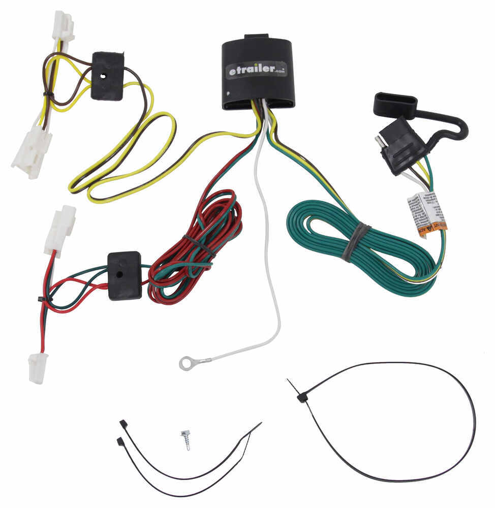 T One Vehicle Wiring Harness With 4 Pole Flat Trailer Connector Custom Automotive Tekonsha Fit 118415