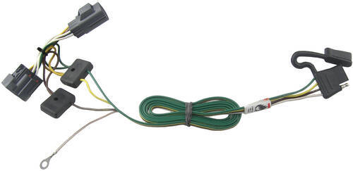 118416_500 t one vehicle wiring harness with 4 pole flat trailer connector Honda Towing Wiring Harness at aneh.co