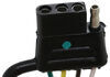 T-One Vehicle Wiring Harness with 4-Pole Flat Trailer Connector Converter 118420