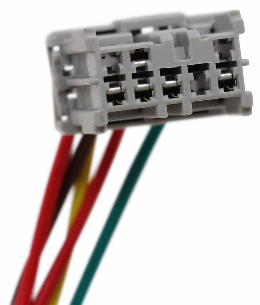 T One Vehicle Wiring Harness With 4 Pole Flat Trailer Connector Custom Fit Hitch Powered Converter 7 Tekonsha 118438