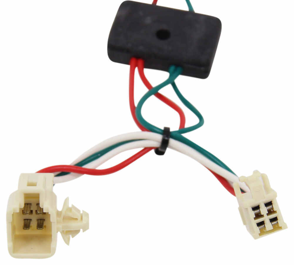 Tow Ready Wiring Harness 2010 Coroola Electrical Diagrams Toyota Corolla T One Vehicle With 4 Pole Flat Connectors