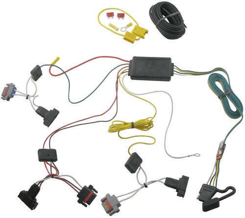 118462_500 t one vehicle wiring harness with 4 pole flat trailer connector 2001 pt cruiser engine wiring harness at suagrazia.org