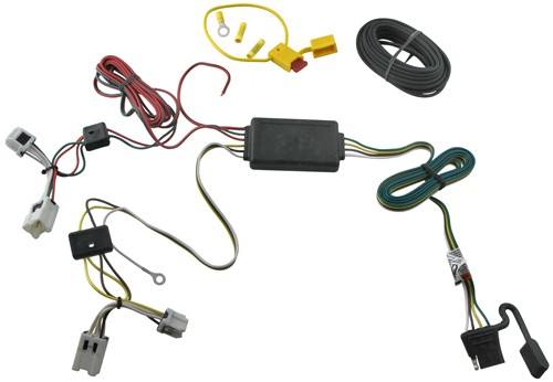 118470_500 t one vehicle wiring harness with 4 pole flat trailer connector Ford Expedition Wire Harness at fashall.co