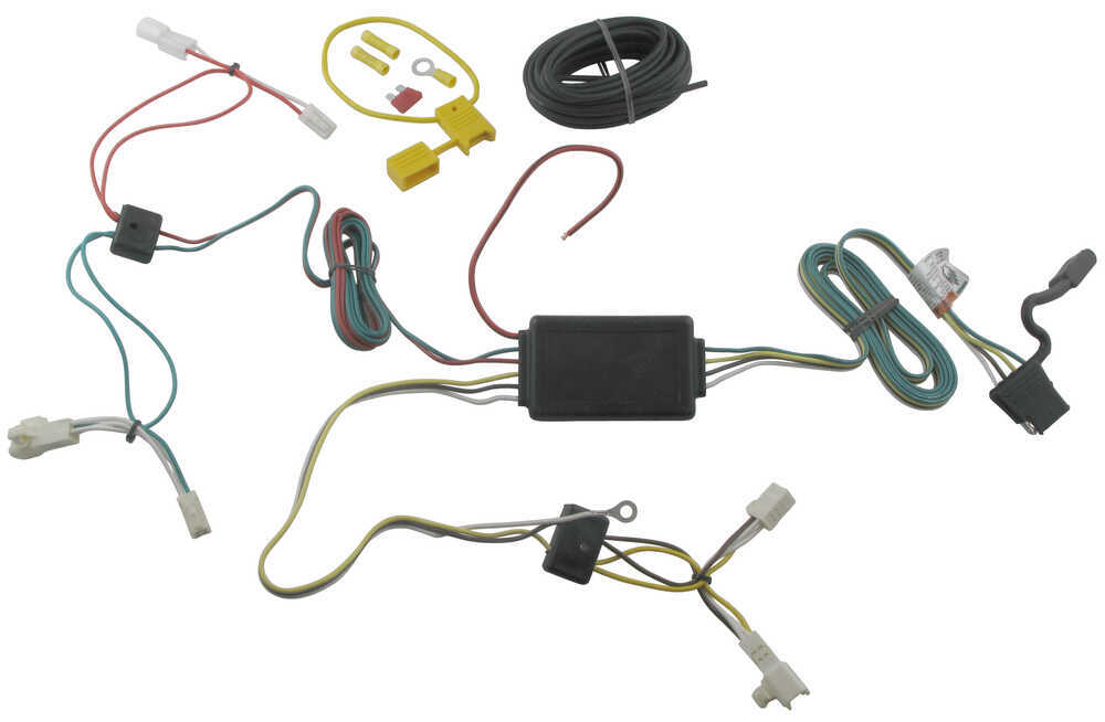 t one vehicle wiring harness with 4 pole flat trailer connectort one vehicle wiring harness with 4 pole flat trailer connector tekonsha custom fit vehicle wiring 118478