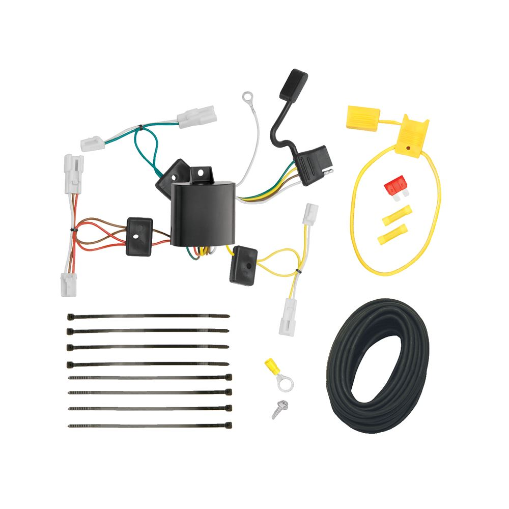 T One Vehicle Wiring Harness With 4 Pole Flat Trailer Connector Wire Under Carpet Cable Diagram Tekonsha Custom Fit 118498