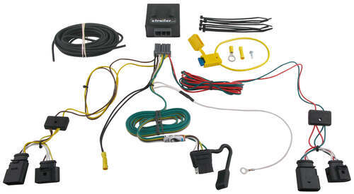 118509_500 t one vehicle wiring harness with 4 pole flat trailer connector  at virtualis.co