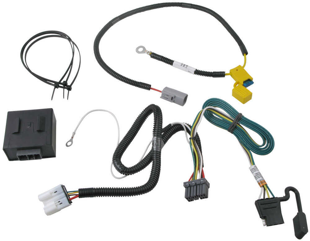 t-one vehicle wiring harness with 4-pole flat trailer ... 3 wire molex wire harness
