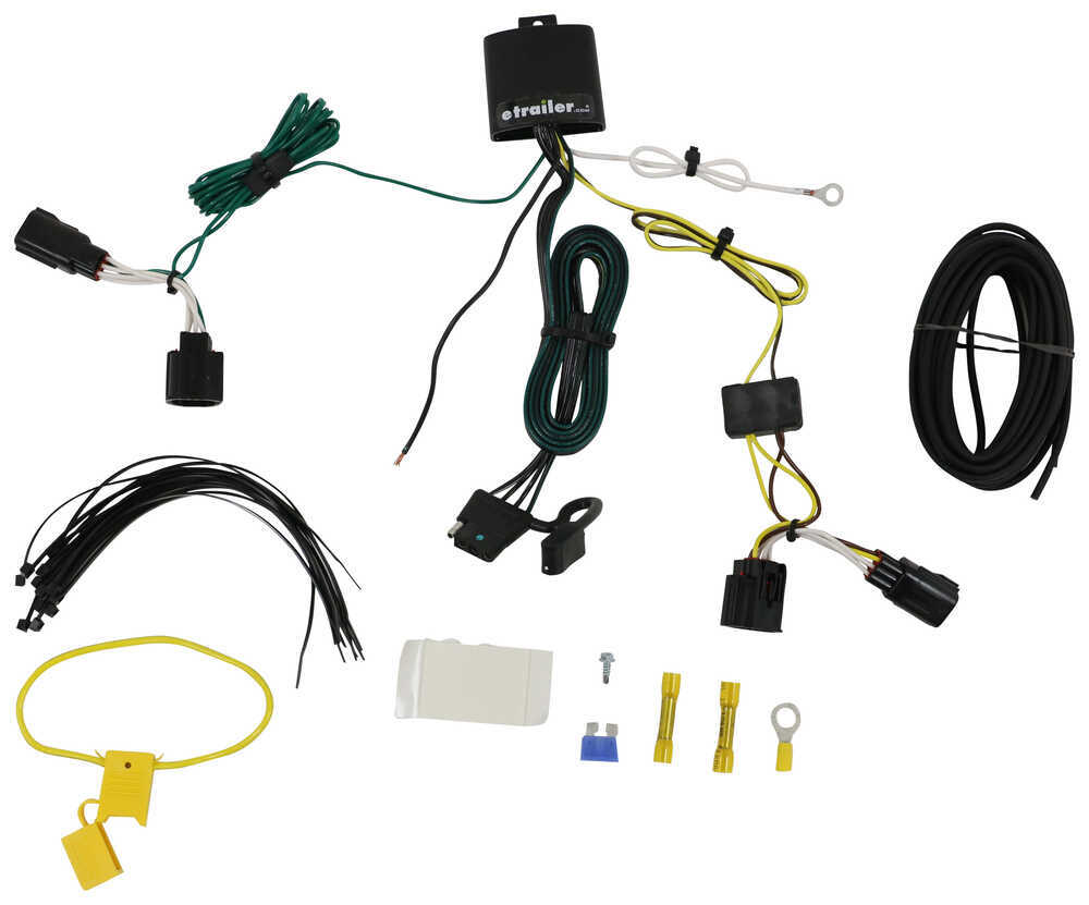 T One Vehicle Wiring Harness With 4 Pole Flat Trailer Connector 5 Wire Hitch Tekonsha Custom Fit 118534