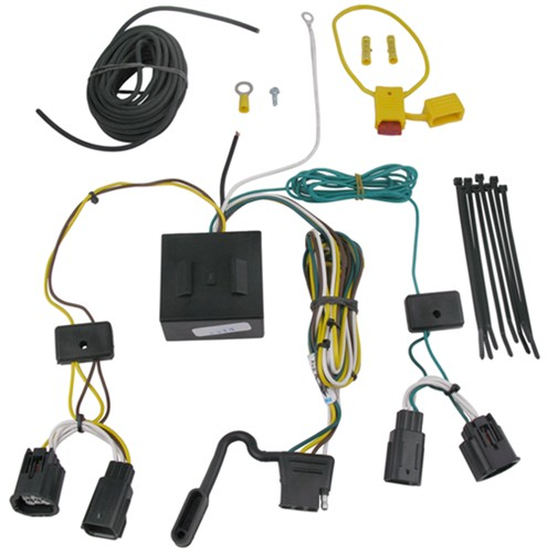 118534_500 t one vehicle wiring harness with 4 pole flat trailer connector Chrysler Town Country Aftermarket Accessories at panicattacktreatment.co
