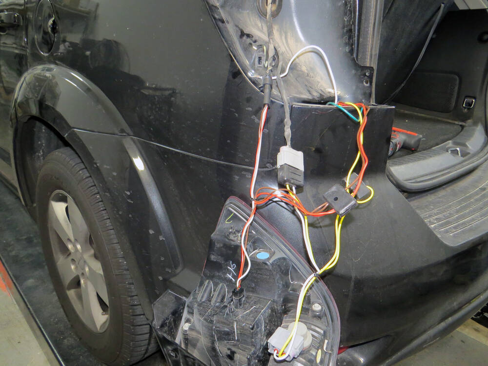t-one vehicle wiring harness with 4-pole flat trailer ... 2012 dodge journey trailer wiring harness